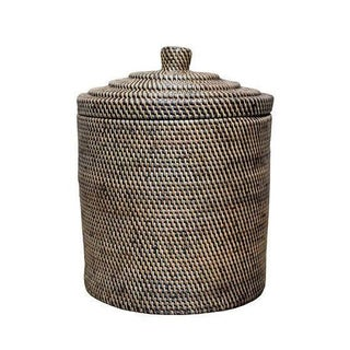 Rattan Basket With Top