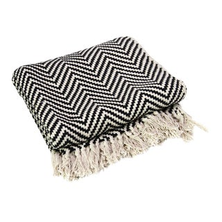 Ebony Cotton Chevron Throw