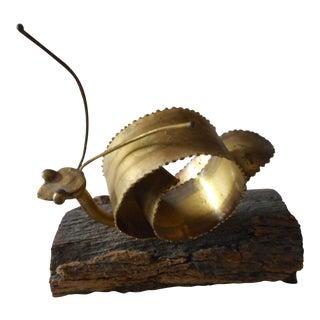 Metal Mid-Century Modern Snail Art Sculpture