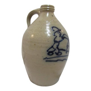 Beaumont Stoneware Blue Salt Glaze Jug