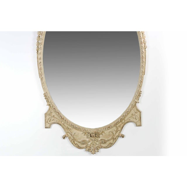 Adam's Style Cream Painted Wall Mirrors - A Pair - Image 6 of 10