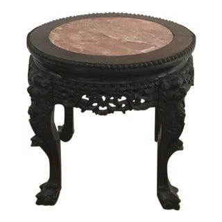 Chinese Antique Marble Side Table