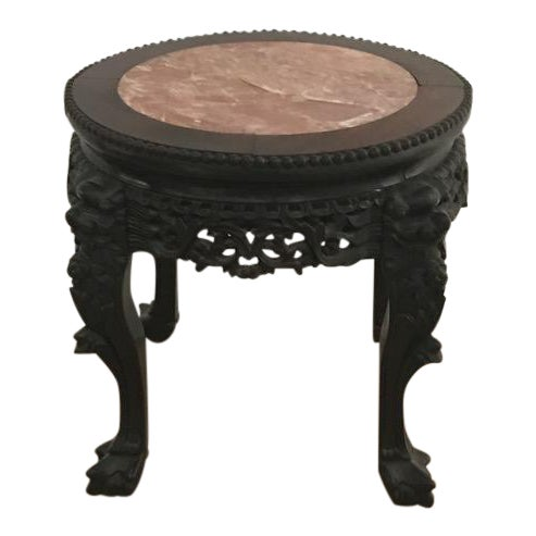 Chinese Antique Marble Side Table - Image 1 of 7