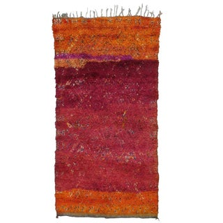 "Beni Mguild Moroccan Berber Rug with Dramatic ""Abrash"""