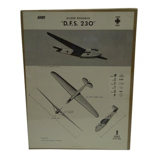 WWII Glider Aircraft Recognition Poster