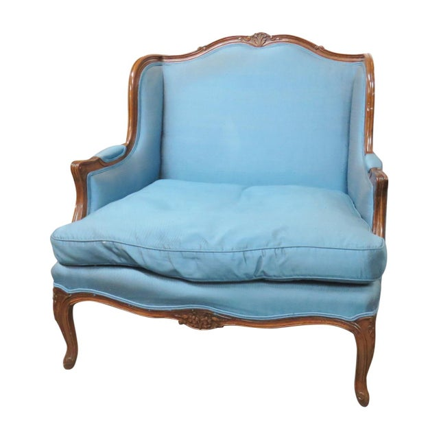 Louis XVI Style Upholstered Bergeres - Image 1 of 5