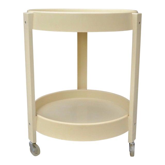 Vintage Joe Colombo Style Mid Century Modern Plastic Round Bar Tea Cart - Image 1 of 11