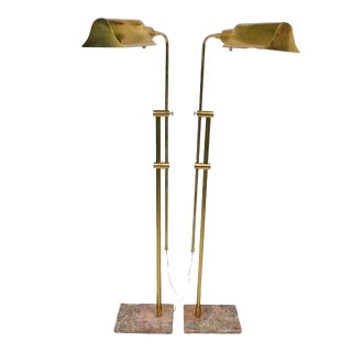 Matching Pair of Brass Floor Lamps