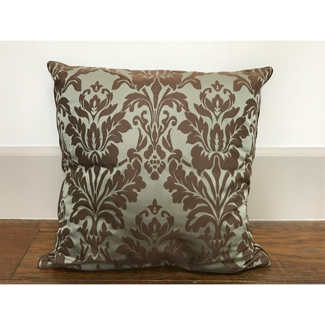 Restoration Hardware Cotton Silk Damask Pillow Cover - Image 2 of 4