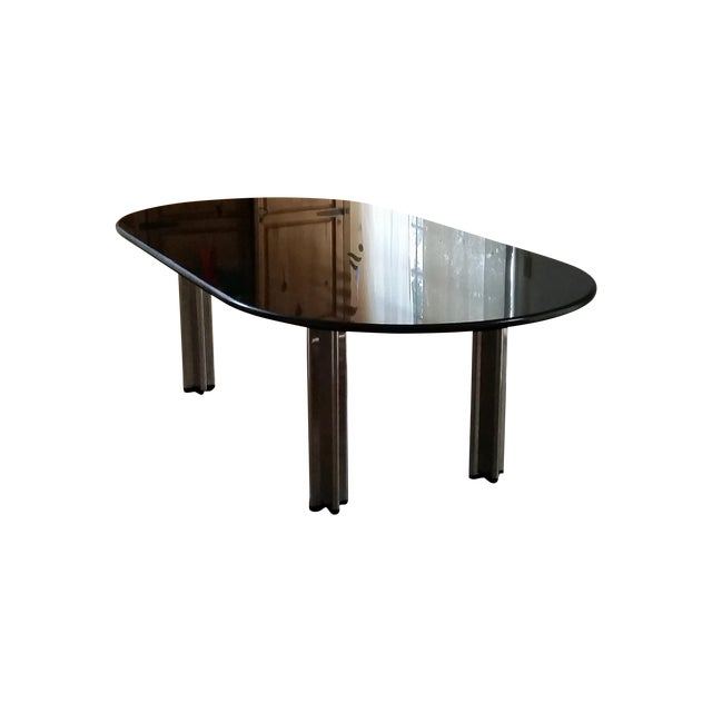 1980's Knoll Racetrack Black Marble Table - Image 1 of 7
