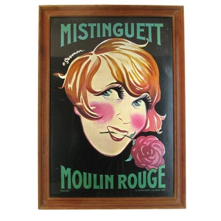 Moulin Rouge Mistinguett Poster
