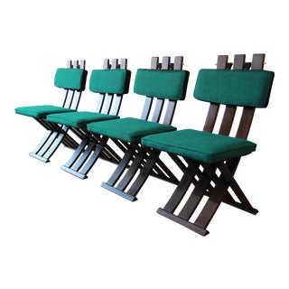 Harvey Probber Mid-Century Modern X-Base Dining Chairs - Set of 4