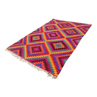 Vintage Turkish Kilim Rug - 6′3″ × 9′4″