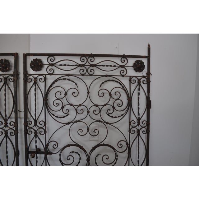 Antique Hand Wrought Iron Gates A Pair Chairish