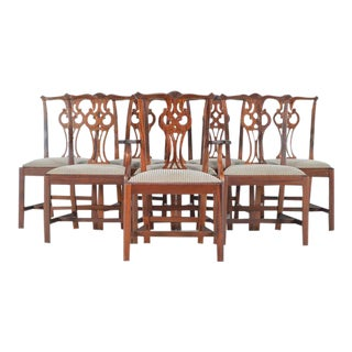 Chippendale Style Mahogany Dinning Chairs - Set of 8