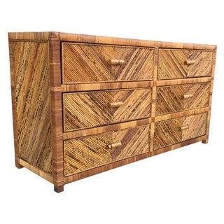 Vintage Split Bamboo Dresser