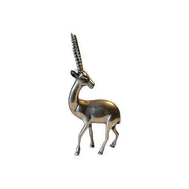 Mid-Century Solid Brass Gazelle - Image 1 of 6