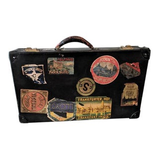 Vintage Suitcase With Travel Decals