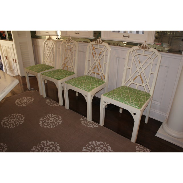Pagoda Dining Chairs - Set of 4 - Image 2 of 9
