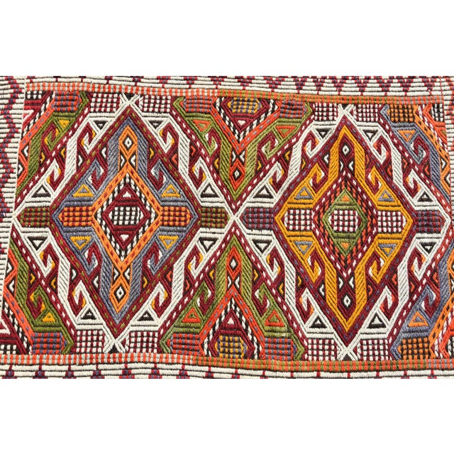 Anatolian Tribal Embroidered Kilim Area Rug -2′6″ × 3′10″ - Image 5 of 6