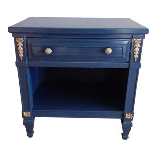 Drexel San Remo High Gloss Blue Nightstand