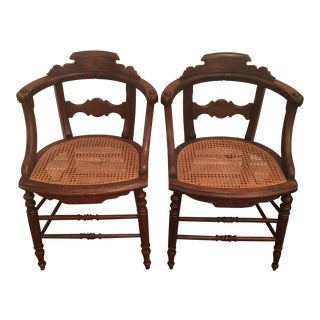 Cane Mahogany Chairs - set of 4