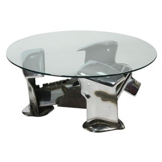 John E. Pendleton Twisted Metal Cocktail Table
