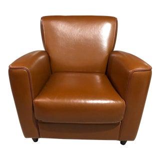 Cognac & Caramel Club Chair