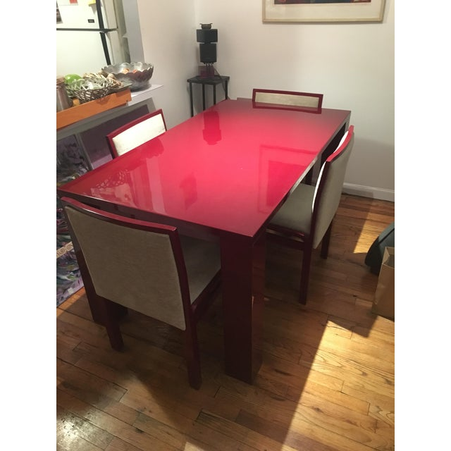 Abc Carpet & Home Extendable Dining Table & 4 Chairs - Image 2 of 8