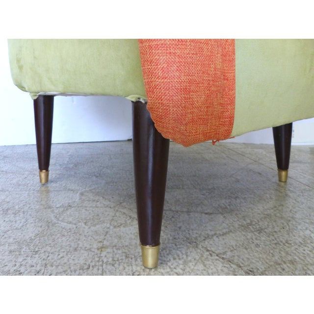 Angled Mid-Century Modern Club Chairs - Pair - Image 8 of 9