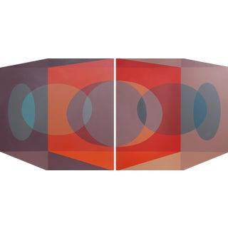 """Ben Cunningham """"Scarlet Tesseract Corner"""" Silkscreen Panels - A Pair"""