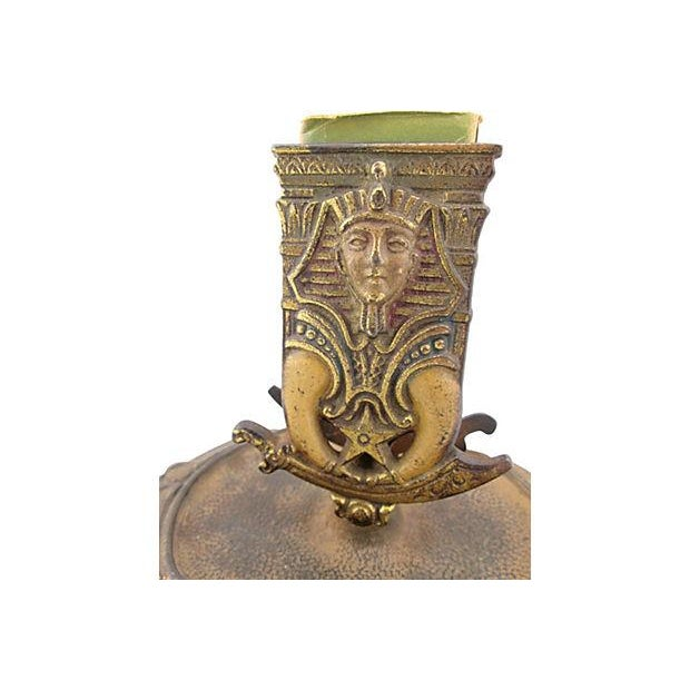 Image of Antique Egyptian Shriner's Masonic Match Holder