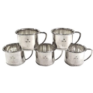 Silver-Plate French Punch Cups - Set of 5