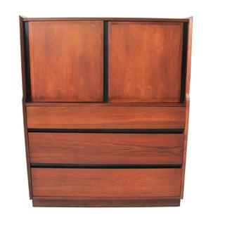 Vintage Mid-Century Modern Highboy Dresser by Milo Baughman