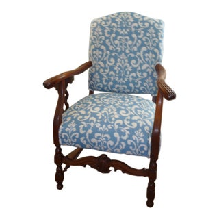 Vintage Italian Walnut Accent Chair