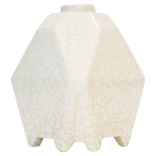 White Octoganal French Vase