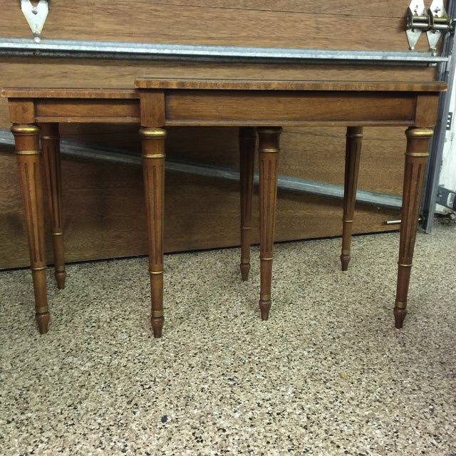 Walnut Finish Heritage Double Side Table - Image 2 of 7