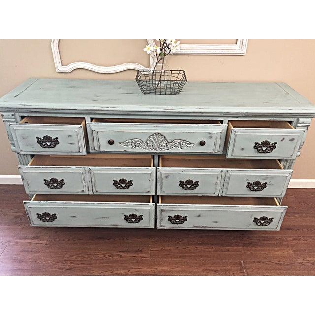 Vintage Distressed 7-Drawer Dresser - Image 6 of 10