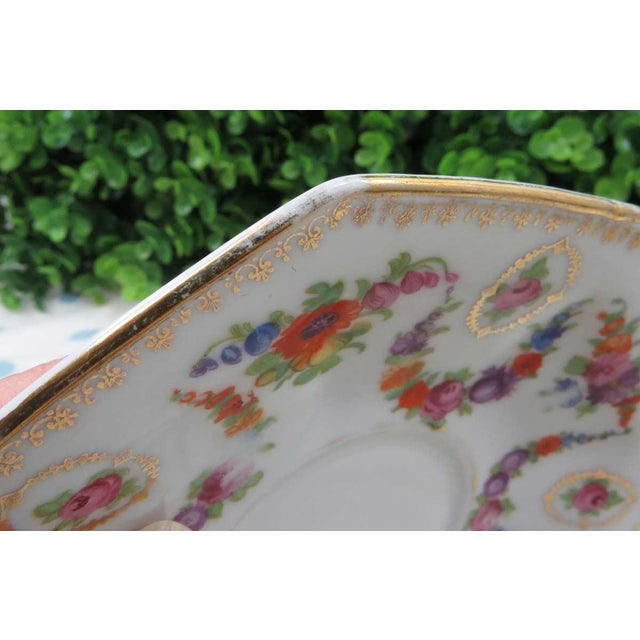 Vintage Mismatched Fine China, 5 Pc Place Setting - Image 9 of 10
