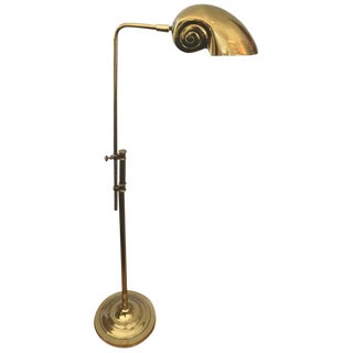 Nautilus Shell Adjustable Brass Floor Lamp