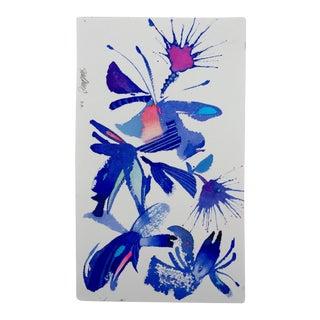 """Steve Klinkel """"Floral Abstract 2"""" Original Watercolor Painting"""