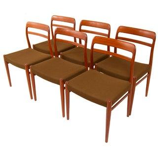 Alf Aarseth Norwegian Teak Dining Chairs - Set of 6