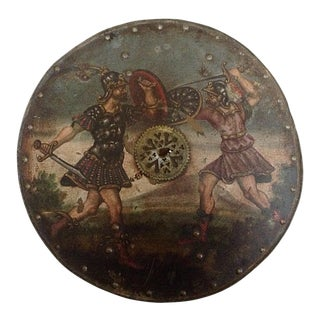 18th Century Sheild With Later Painted Decorations