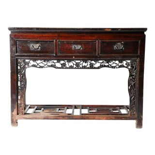 Chinese Three-Drawer Console Table