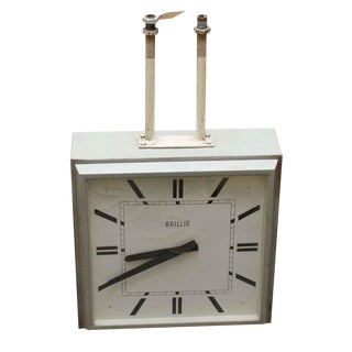 1960s French Hanging Double Sided Sided Clock