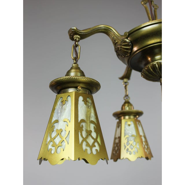 Antique Colonial Revival Pan Light Fixture (4-Light) - Image 10 of 11