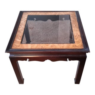 Decorative Asian Scalloped Edge Side Table