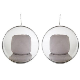 Eero Aarnio by Adelta Hanging Bubble Chairs- A Pair