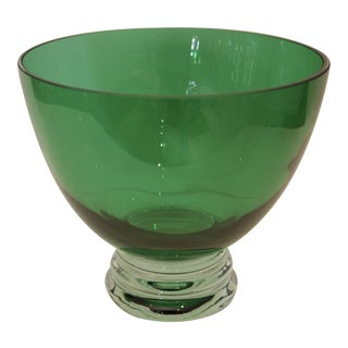 Emerald Green Glass Postmodern Bowl