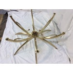 Image of Midcentury Brass Spider Leg Lotus Coffee Table